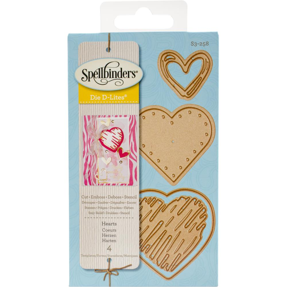 Spellbinders Die D-Lites: Hearts
