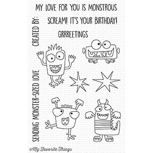 My Favorite Things Clear Stamps: Monster Sized