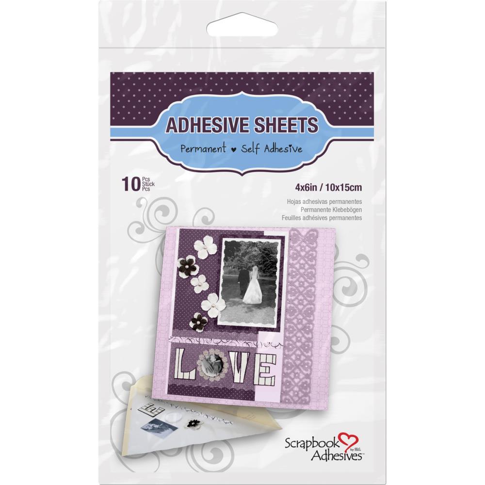 Scrapbook Adhesives Permanent Adhesive Sheets 10/Pkg