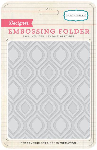 Carta Bella Embossing Folder: Ogee
