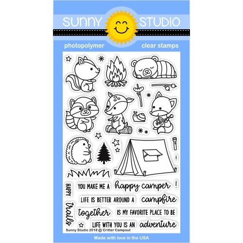 Sunny Studio Clear Stamps: Critter Campout