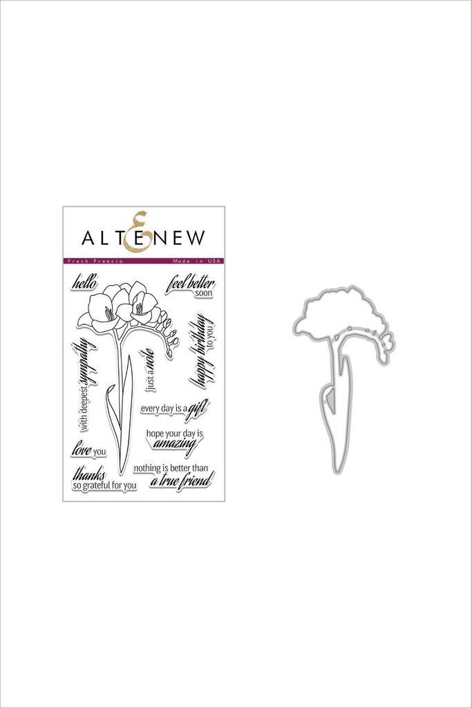 Altenew Stamp & Die Bundle: Fresh Freesia