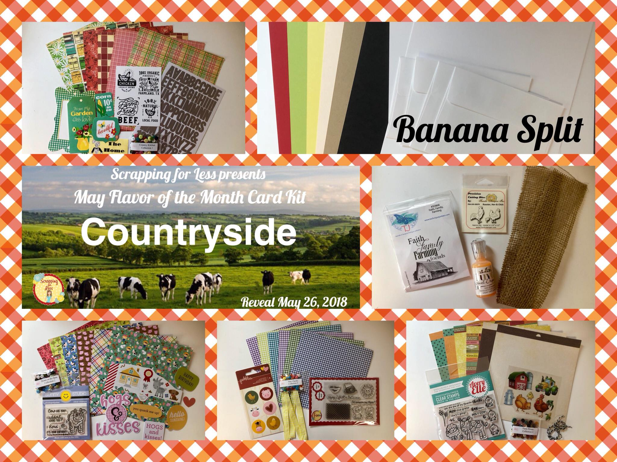May Flavor of the Month Banana Split Countryside