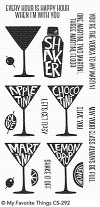 My Favorite Things Clear Stamps: Martini Time