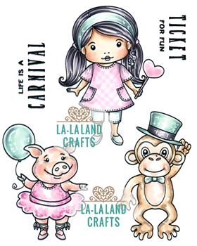 La-La Land Crafts Rubber Stamps: Life is a Carnival