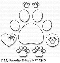 My Favorite Things Die-Namics: Paw Prints