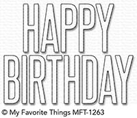 My Favorite Things Die-Namics: Big Birthday