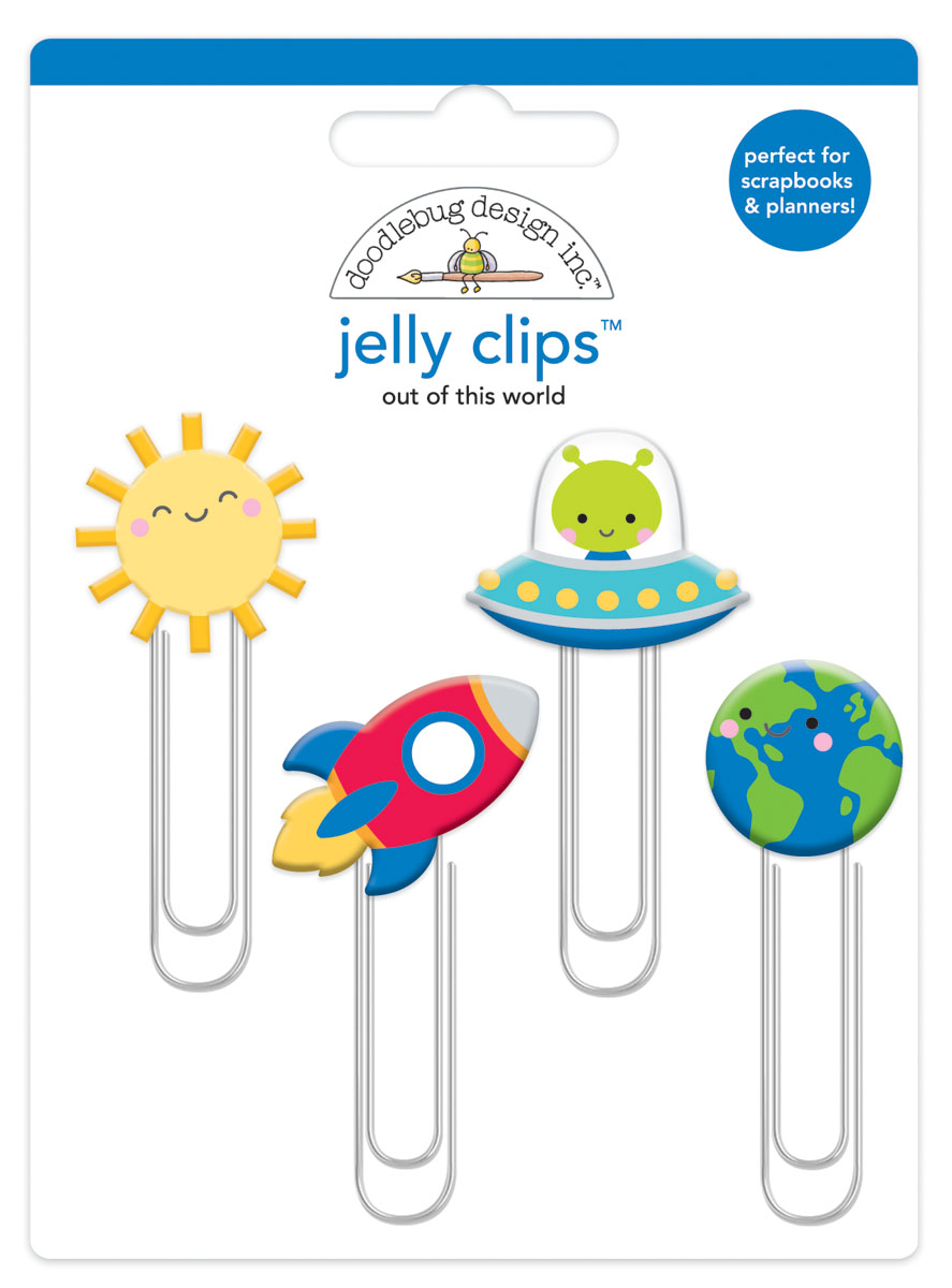 Doodlebug Jelly Clips:  Out of This World