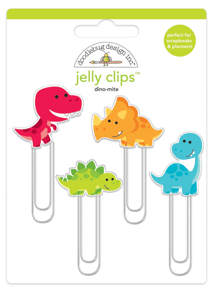 Doodlebug Jelly Clips: Dino-Mite