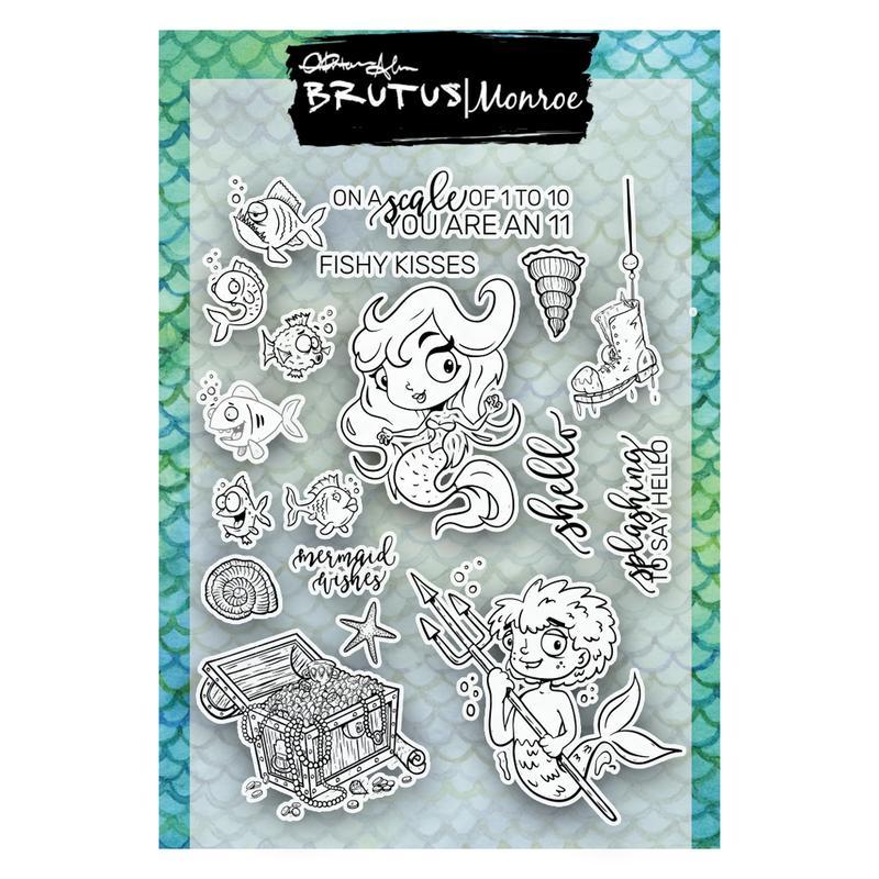 Brutus Monroe Clear Stamps: Mermaid Lagoon