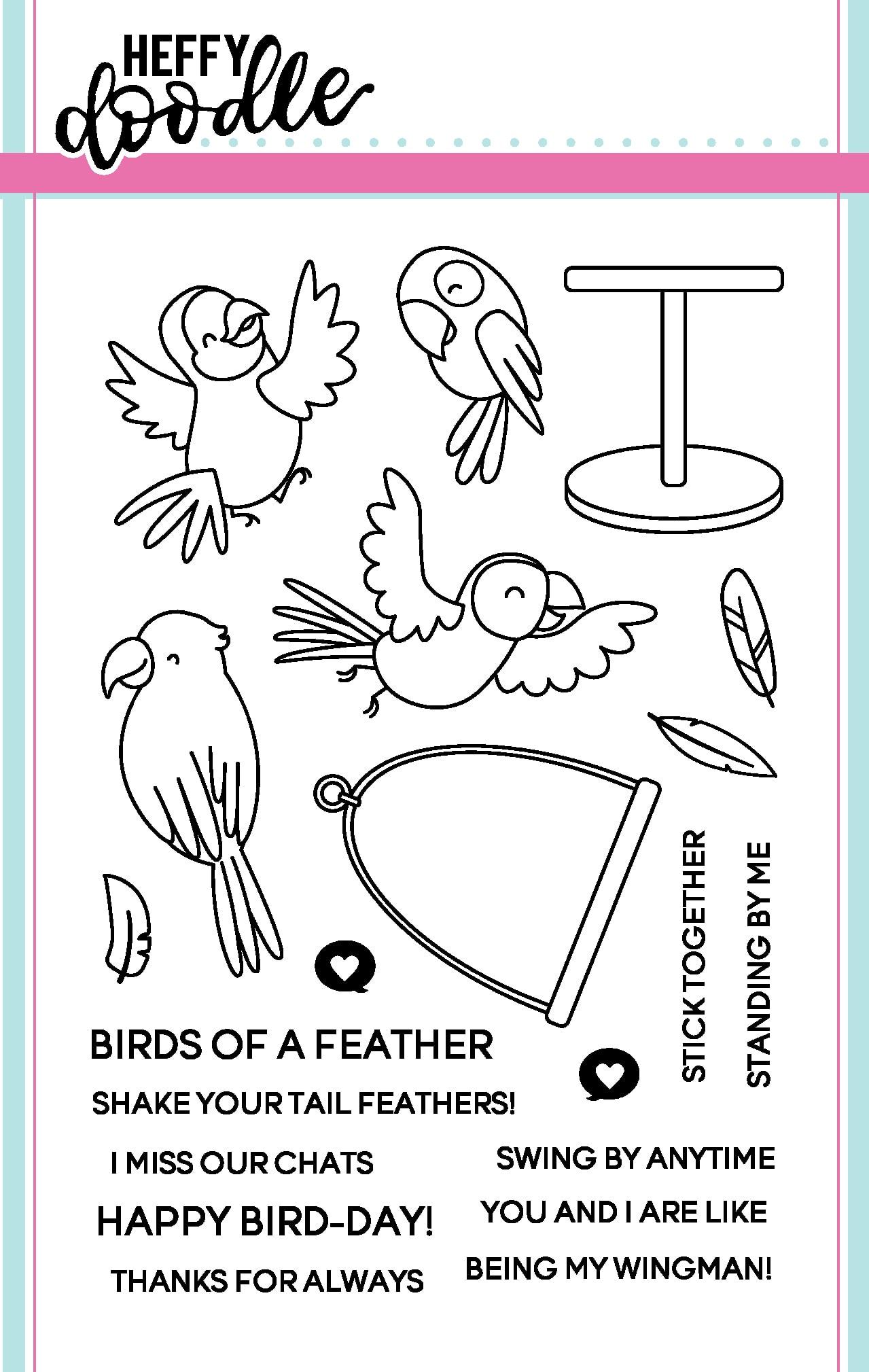 Heffy Doodle Clear Stamp Set: Wingman