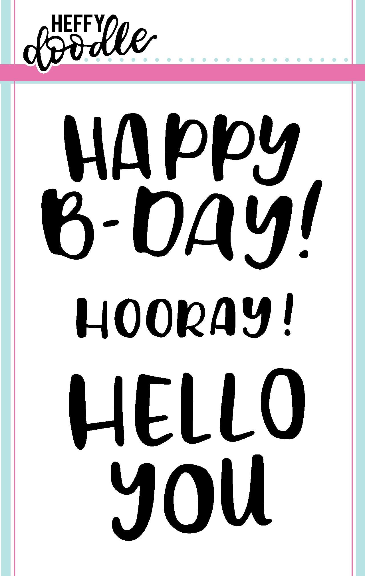 Heffy Doodle Clear Stamp Set: Big Bold Words