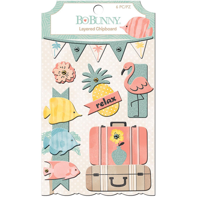 Bo Bunny Escape to Paradise Layered Stickers