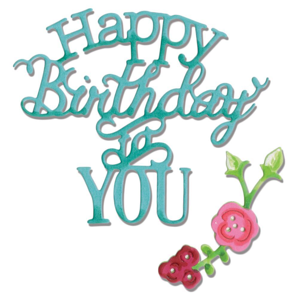 Sizzix Happy Birthday To You Die