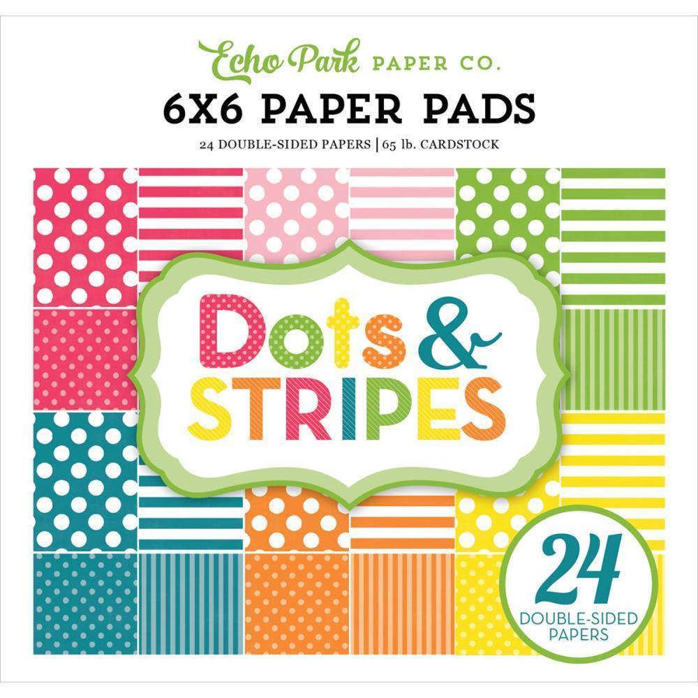 Echo Park 6x6 Paper Pad: Spring Dots & Stripes