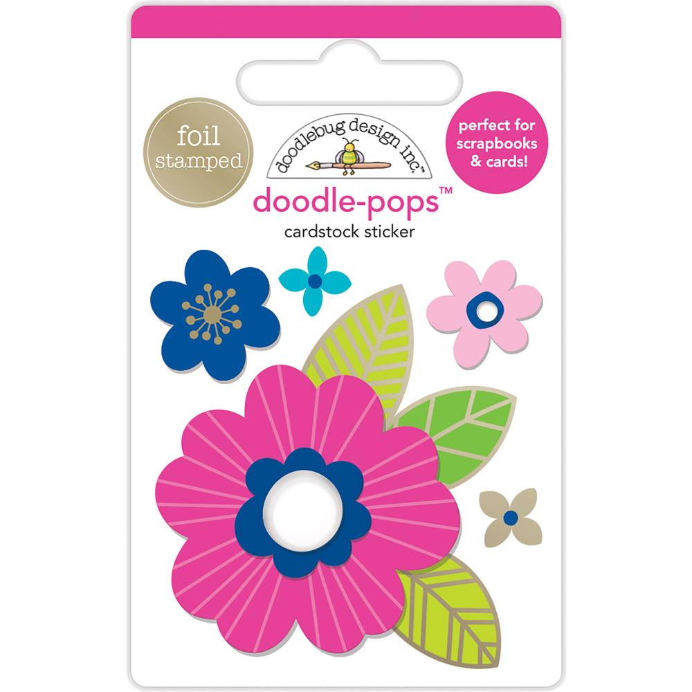 Doodlebug Design Doodle-Pops: Pink Poppy