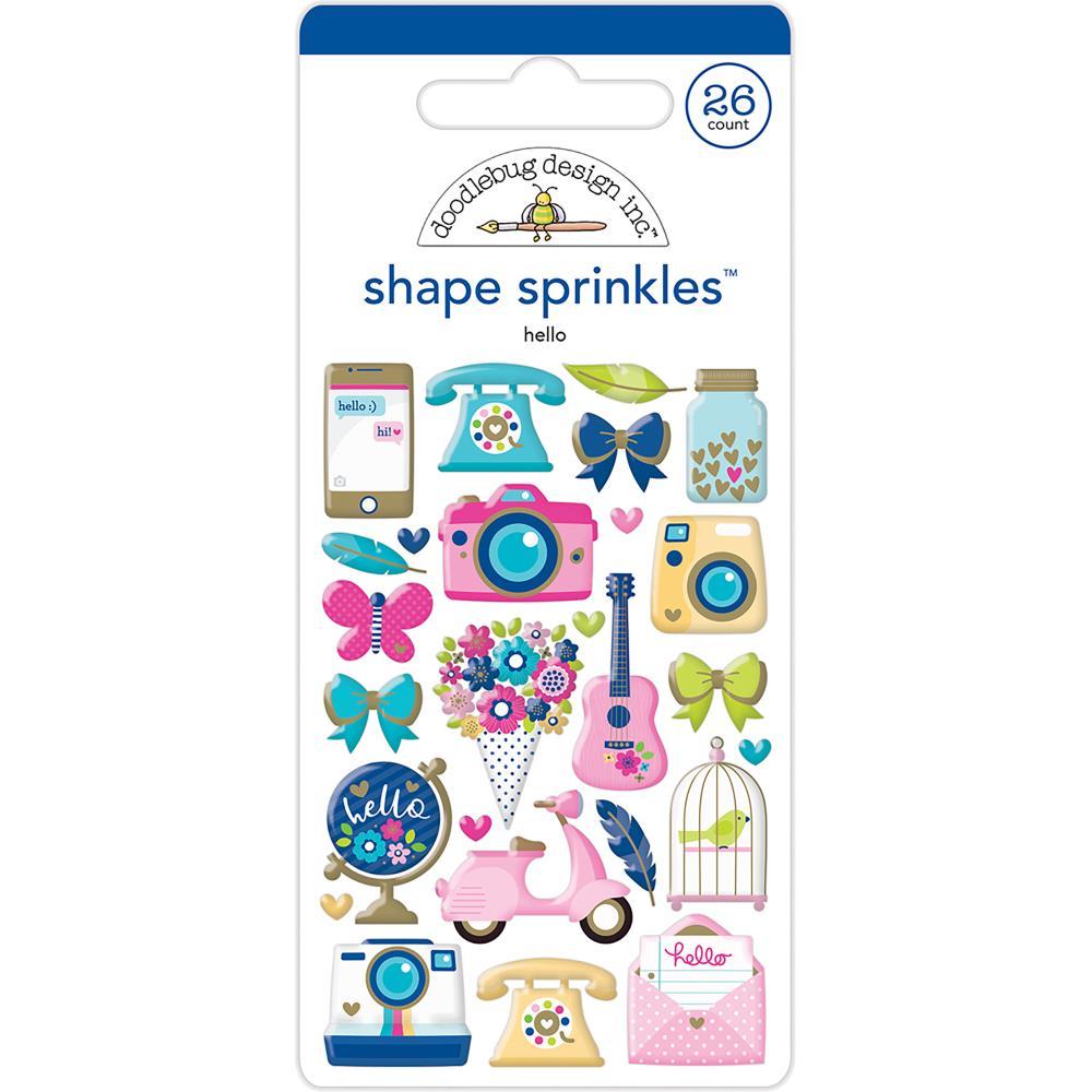 Doodlebug Shape Sprinkles: Hello