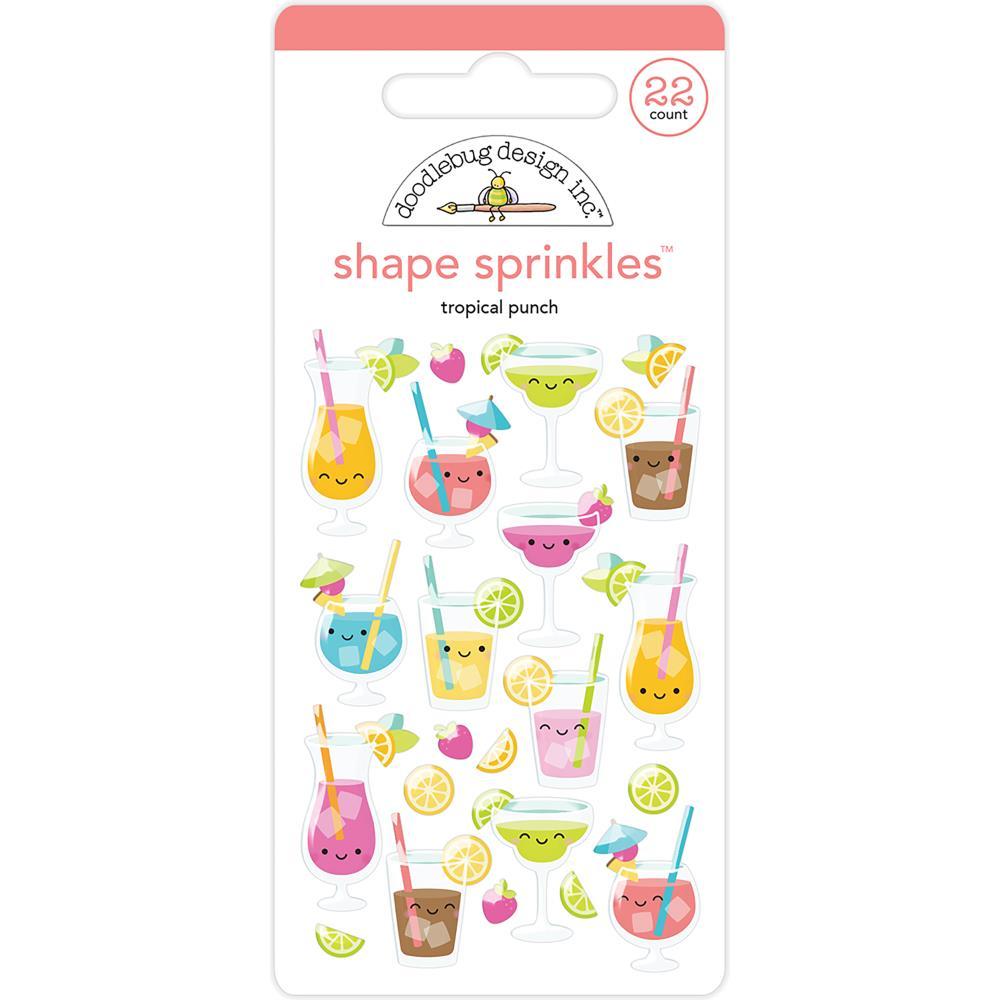 Doodlebug Shape Sprinkles: Tropical Punch