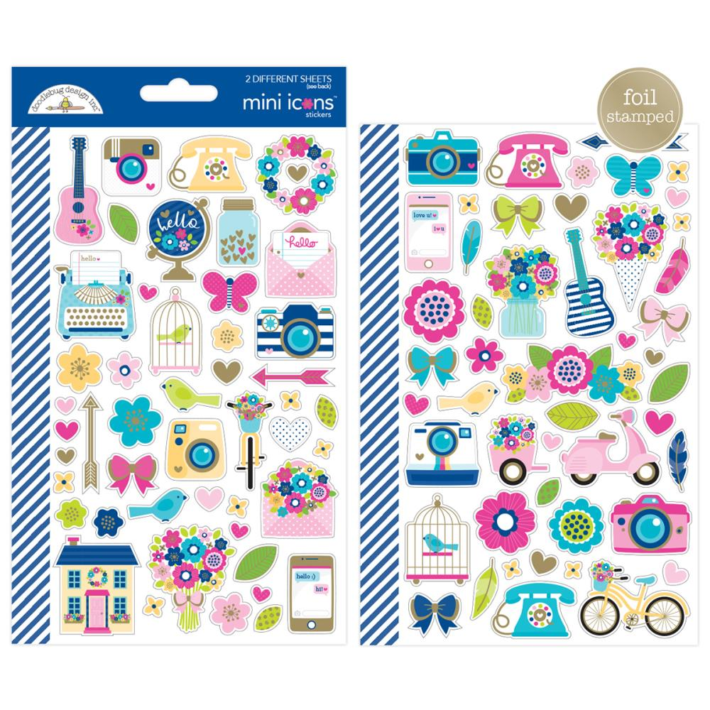 Doodlebug Design Mini Icons: Hello