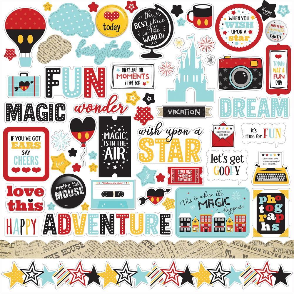 Echo Park 12x12 Cardstock Stickers: Wish Upon A Star