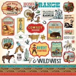 Echo Park 12x12 Cardstock Stickers: Cowboy Country