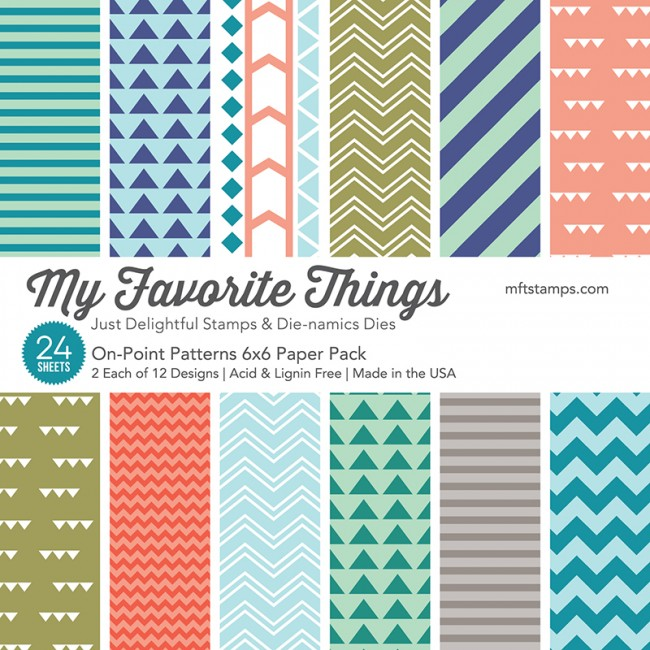 My Favorite Things 6x6 Paper Pad: On-Point Patterns