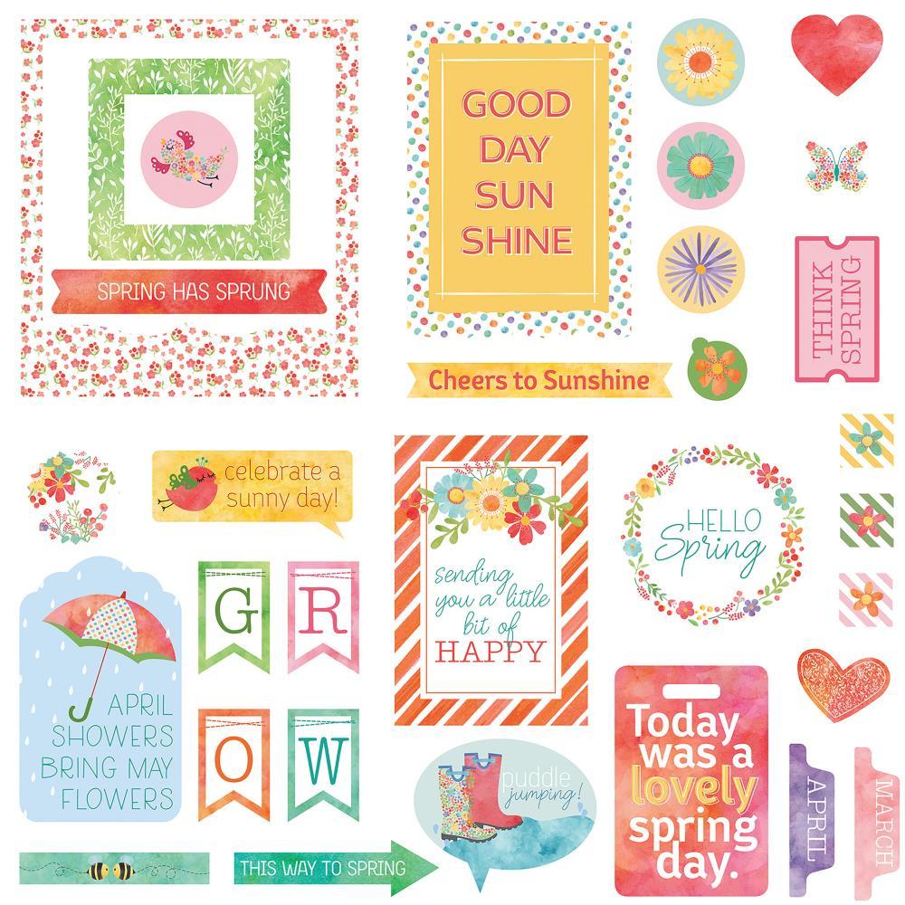 Photo Play Cardstock Die Cuts: Spring in My Garden