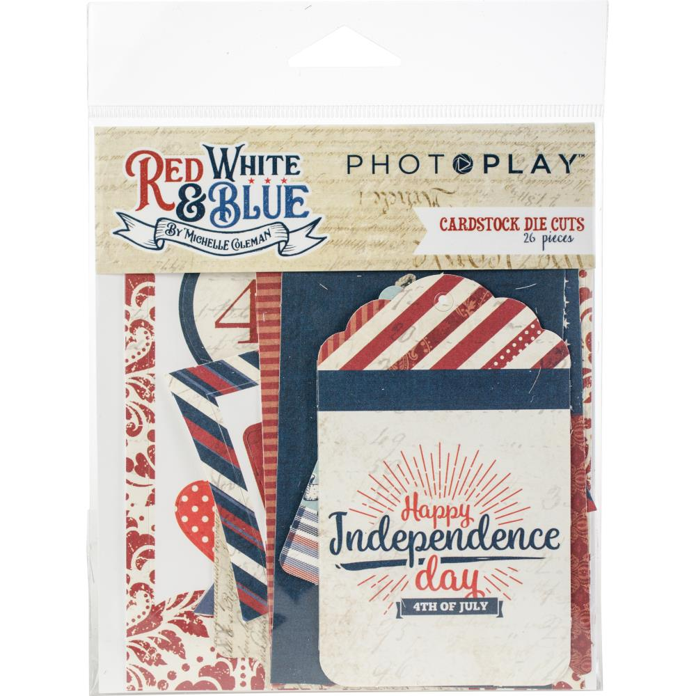 Photo Play Cardstock Die Cuts: Red White & Blue