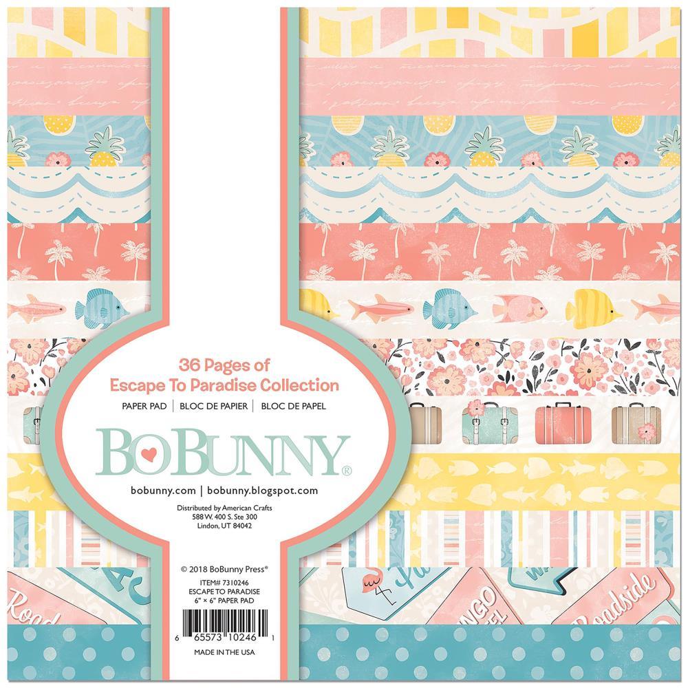 Bo Bunny 6x6 Paper Pad: Escape To Paradise