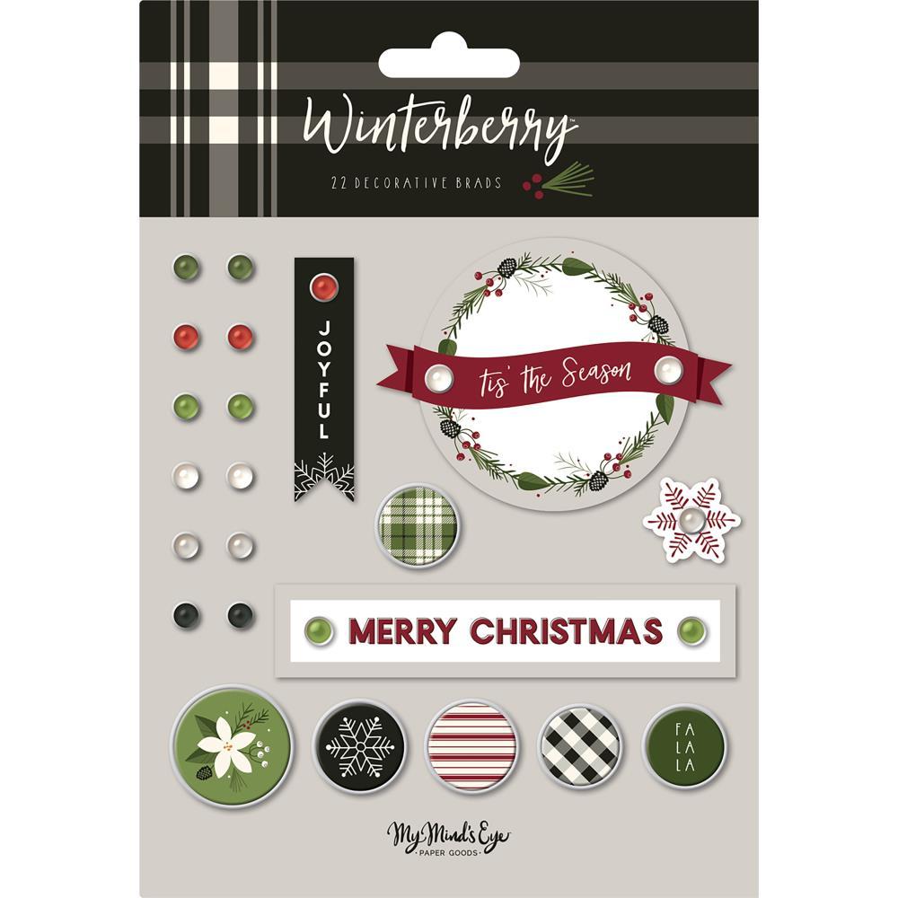 My Mind's Eye Decorative Brads: Winterberry