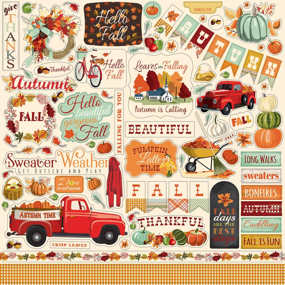 Photo Play 12x12 Element Stickers: Fall Break