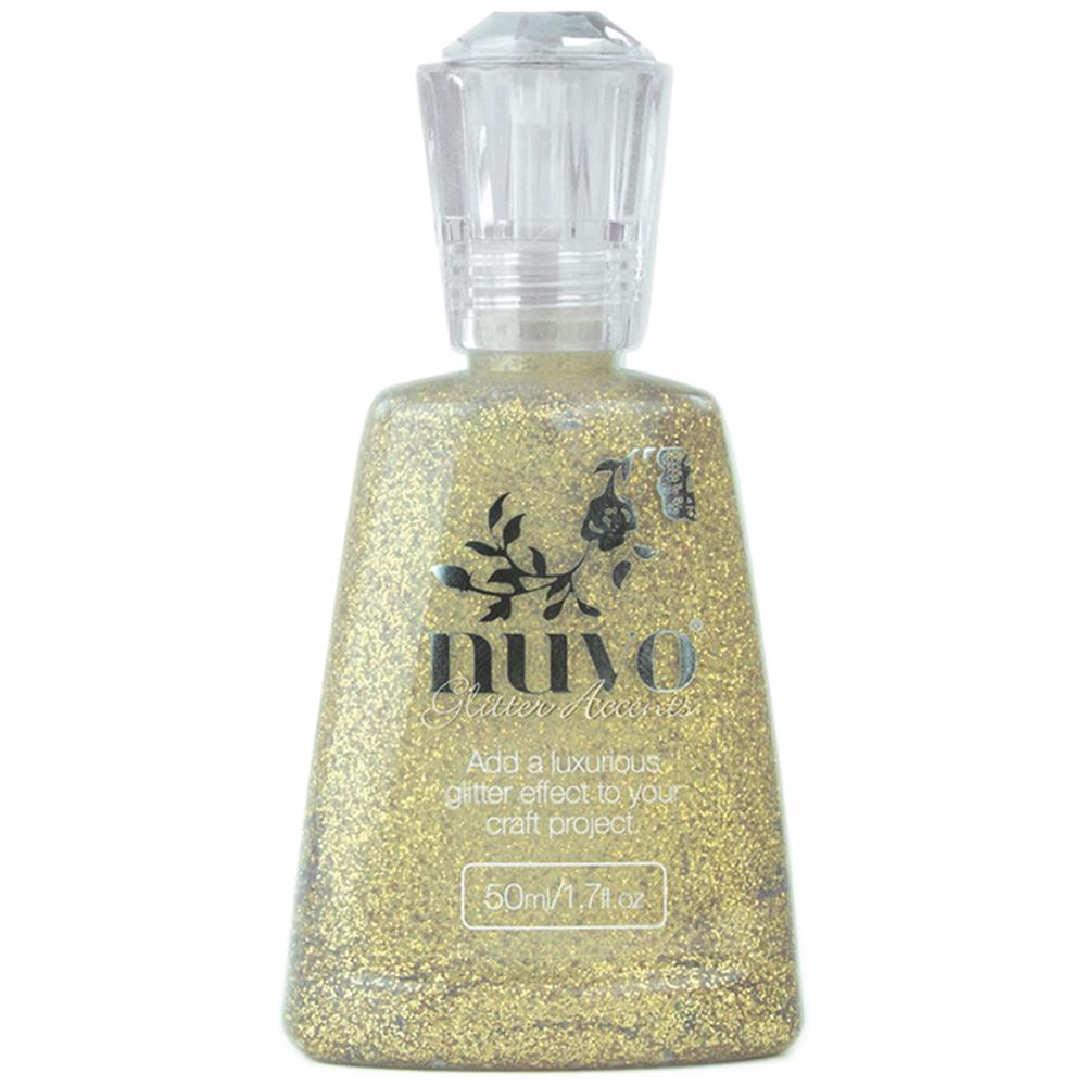 Nuvo Glitter Accents 1.7oz: Aztec gold