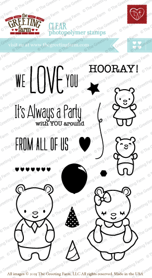 The Greeting Farm Clear Stamps: Always a Party