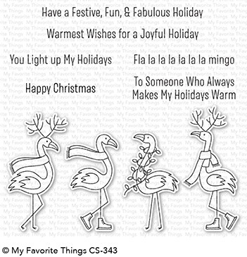 My Favorite Things Clear Stamps: Festive Flamingos