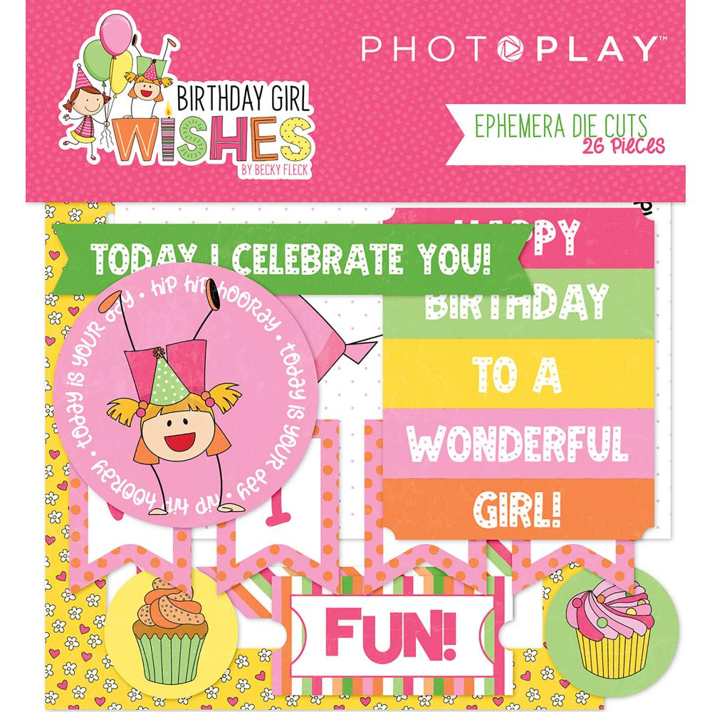 Photo Play Cardstock Die Cuts: Birthday Girl Wishes