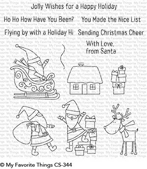My Favorite Things Clear Stamps Here Comes Santa Claus