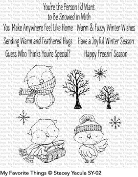My Favorite Things Clear Stamps SY Warm and Feathered Friends