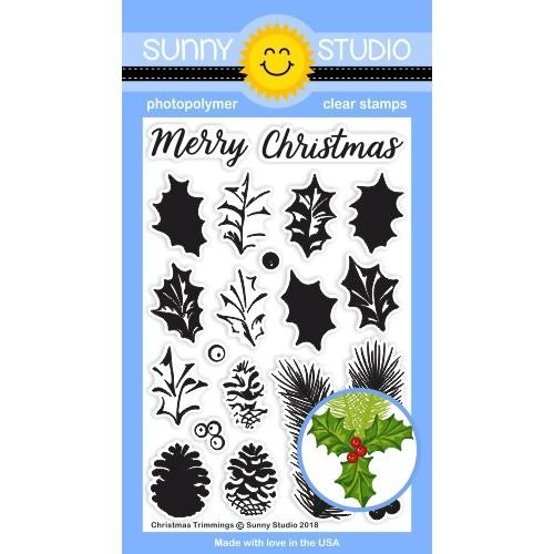 Sunny Studio Clear Stamps Christmas Trimmings