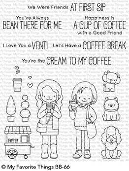 My Favorite Things Clear Stamps Friends at First Sip
