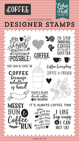 Echo Park Designer Stamps: Coffee Time