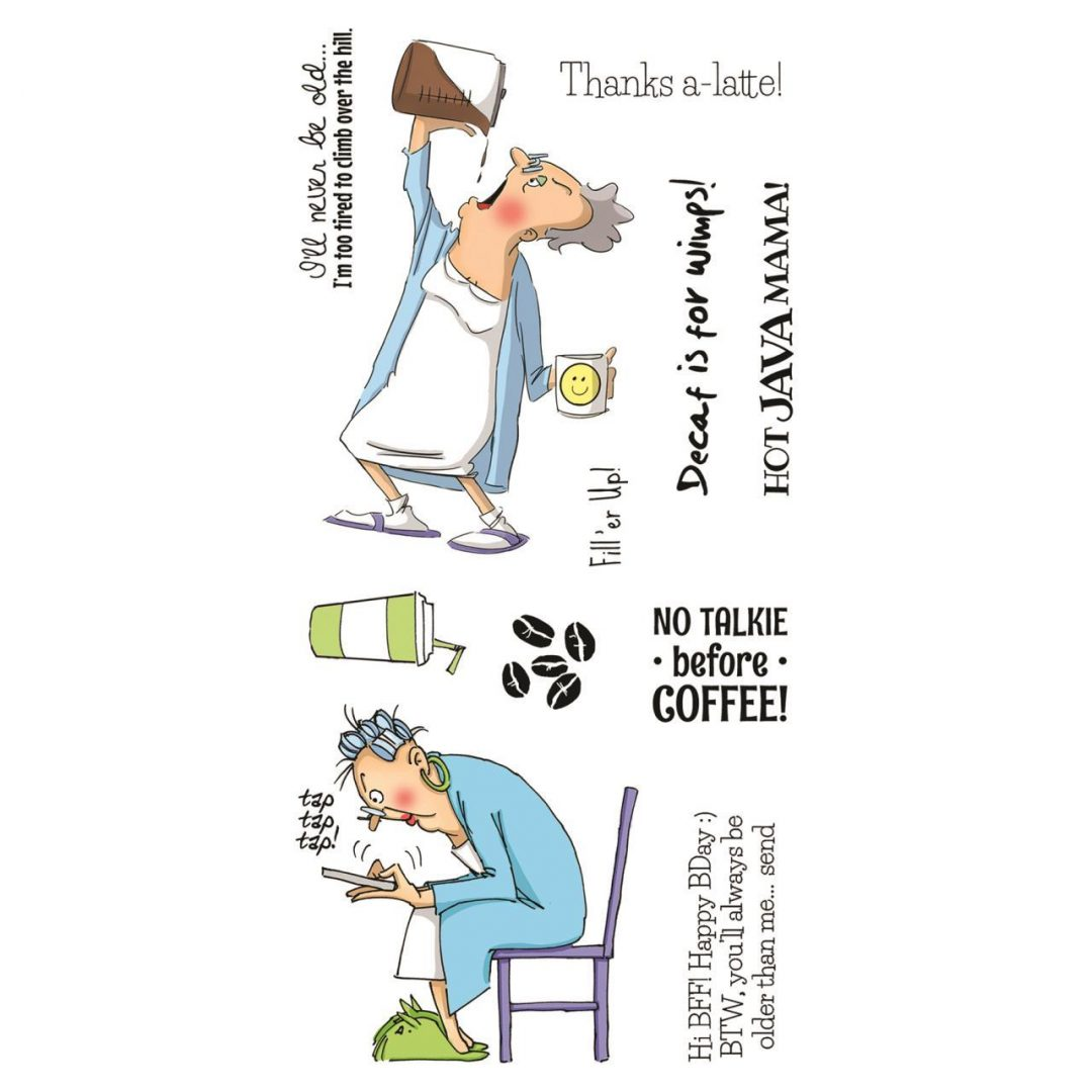 Art Impressions Clear Stamps: Hot Java Mama