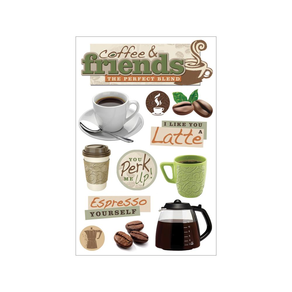 Paper House 3D Stickers: Coffee Talk