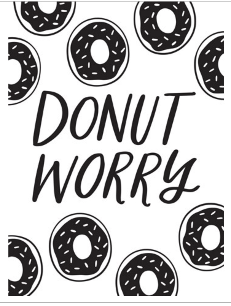 Darice Donut Worry Embossing Folder