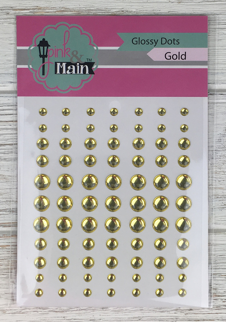 Pink & Main Glossy Dots: Gold