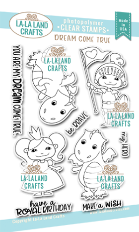 La-La Land Crafts Clear Stamps Dream Come True
