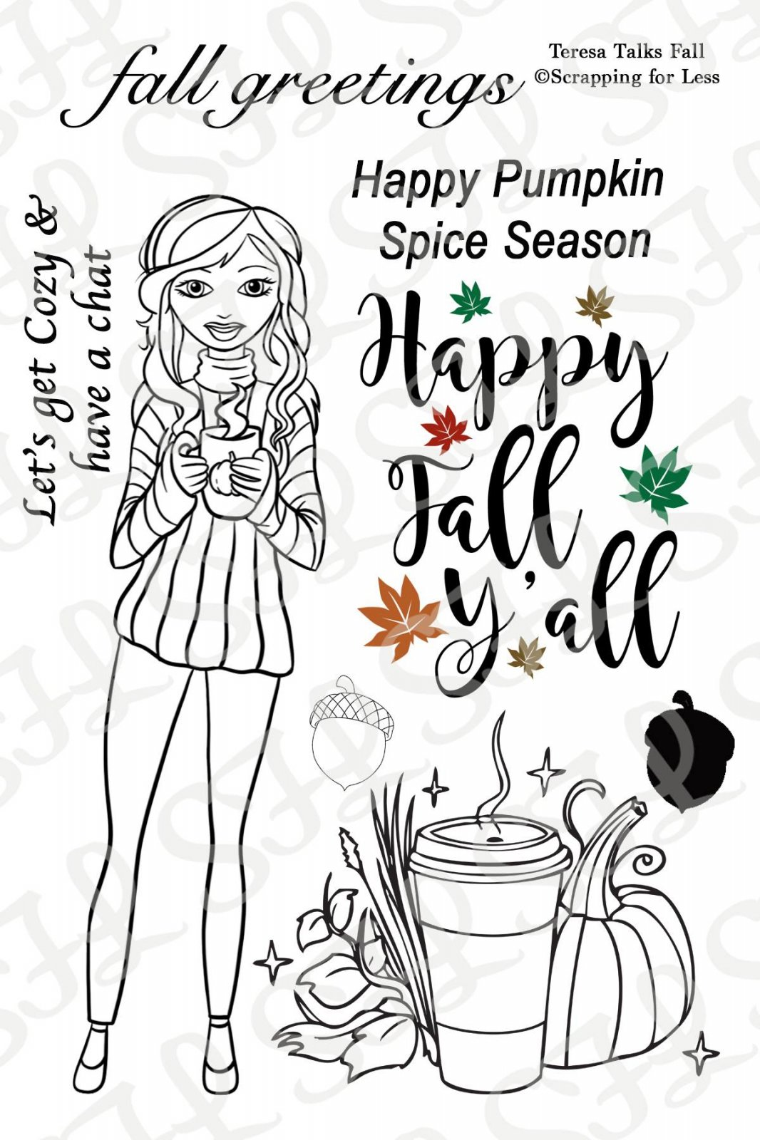 Scrapping for Less Clear Stamps Teresa Talks Fall