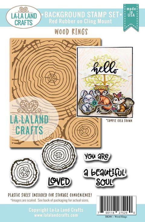 La-La Land Crafts Background Stamp Set Wood Rings