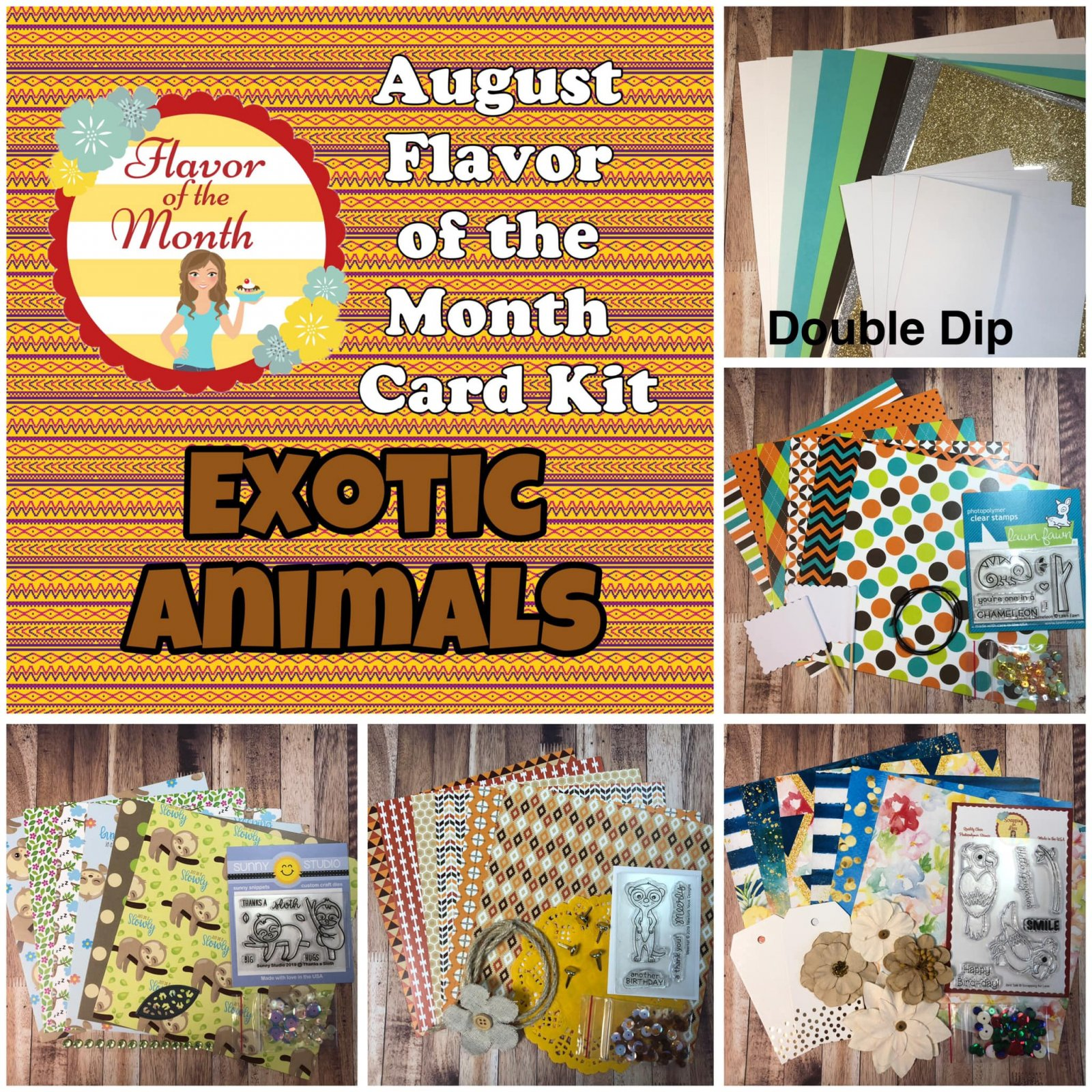 August Double Dip Flavor of the Month Exotic Animals