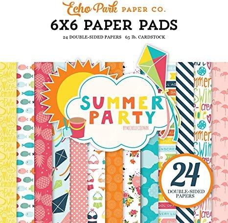 Echo Park Double-Sided Paper Pad 6X6 24/Pkg-Go. See. Explore 12 Designs/2 Each