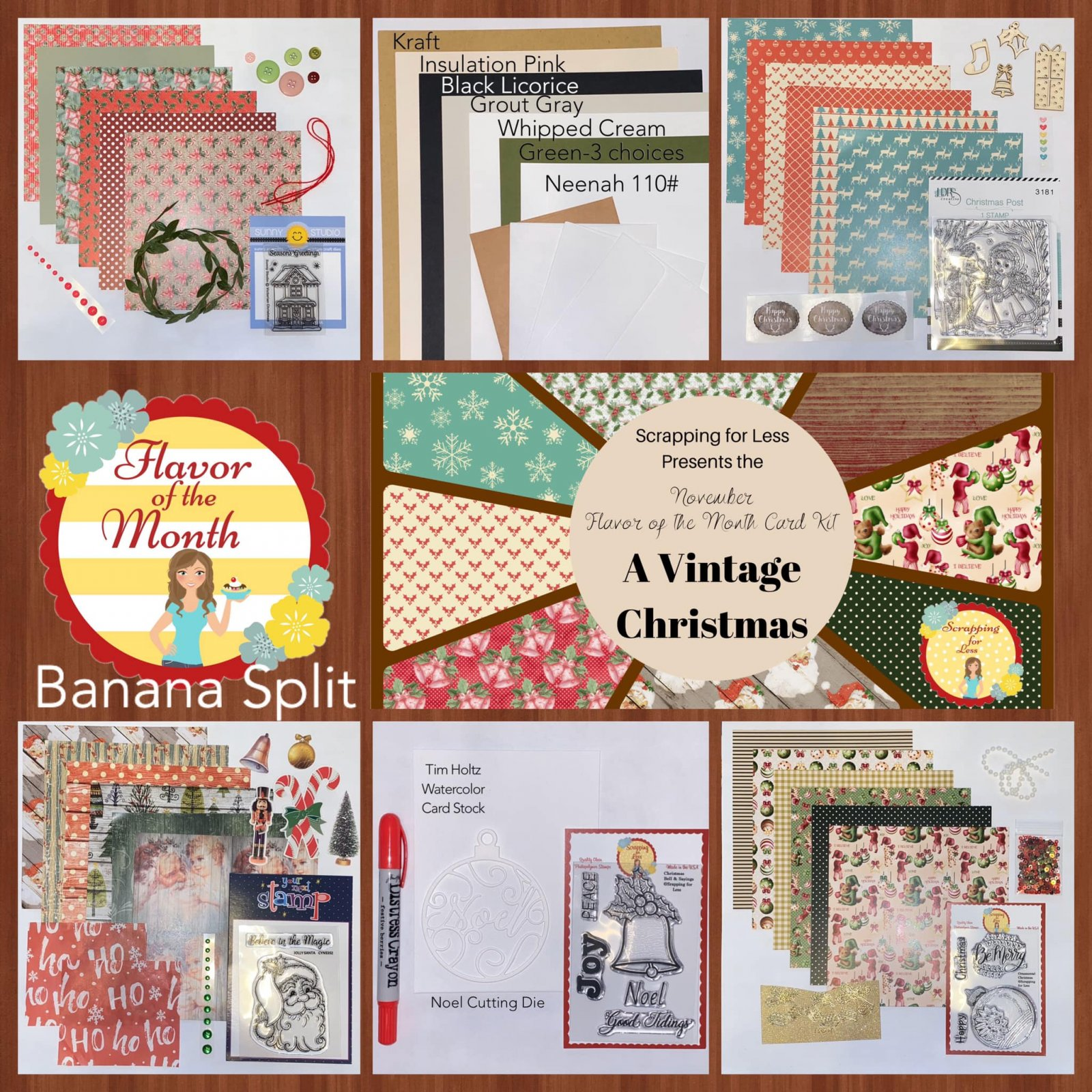 November 2019 Flavor of the Month Banana Split A Vintage Christmas